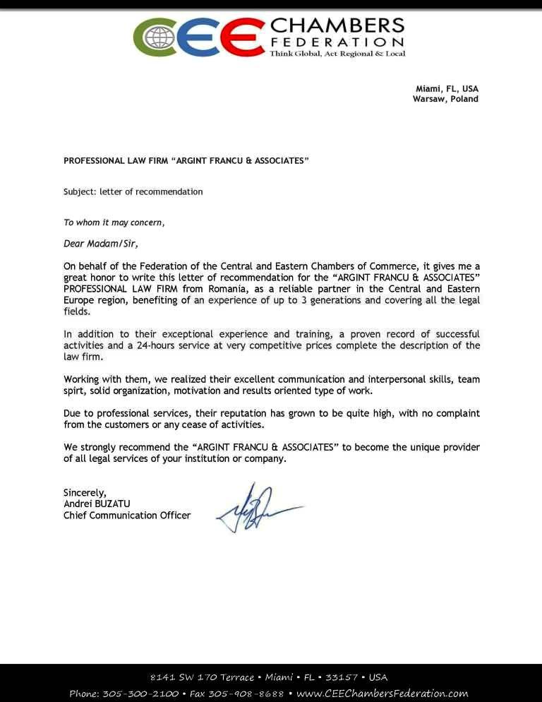 FedeCham_Letter of recommendation for Francu & Associates (1)