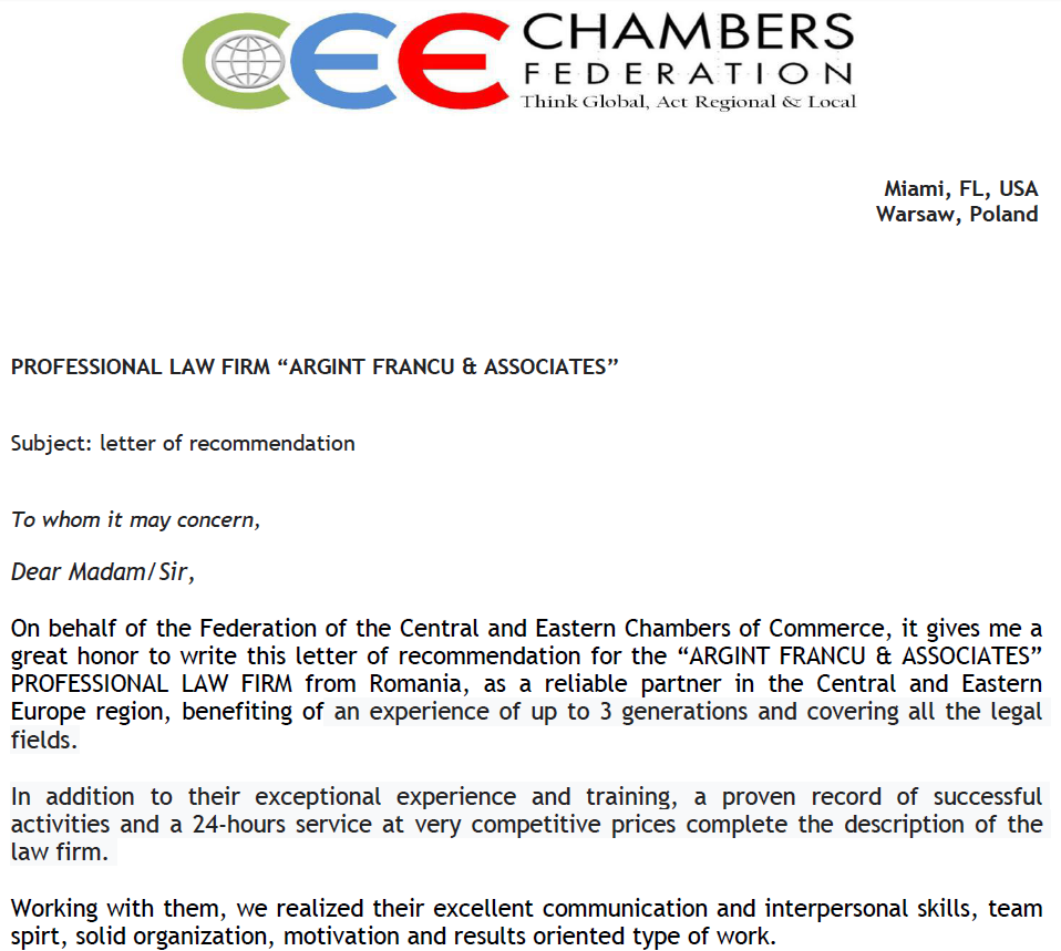 Recunoastere Chambers Federation